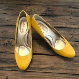 Kelly & Katie Yellow Patent Leather Heels
